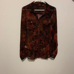 EDDIE BAUER BUTTON DOWN BLOUSE